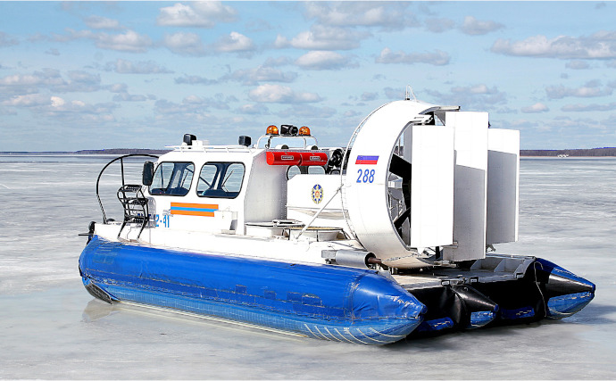 Photo of a rescue hovercraft