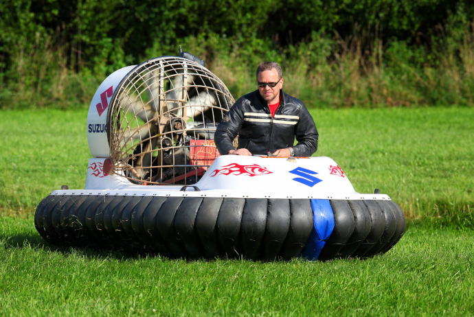 Image of a small hovercraft